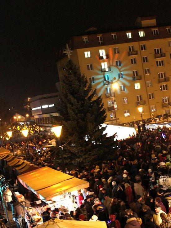 Rozsvícení vánočního stromu v Blansku.
