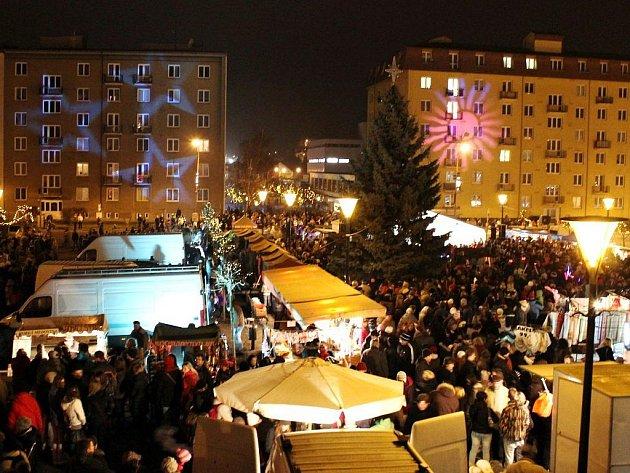 Rozsvícení vánočního stromu v Blansku v roce 2011.