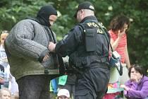 U Zámeckého skleníku v Boskovicích se konal Den s policií.