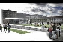 Na blanenském náměstí Republiky má letos vzniknout klidová zóna s kavárnou, lavičkami, trávníkem, vodní plochou a herními prvky.