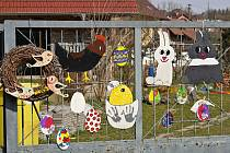 Boskovické domy a zahrady okrášlila velikonoční výzdoba.