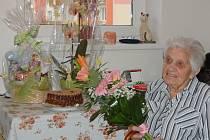 Marie Pernicová v den svých stých narozenin.