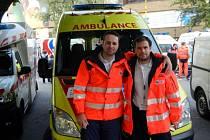 oskovičtí záchranáři Petr Chlup a Jan Antonín Babořík vyhráli mezinárodní soutěž Záchrana 2013 v Košicích.