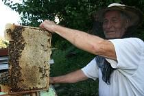 MEZI ÚLY. Redaktor si na vlastní kůži vyzkoušel stáčení medu. Od dlouholetého adamovského včelaře Jiřího Jelínka se při tom dozvěděl spoustu zajímavých věcí.