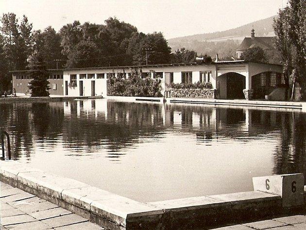 Původní koupaliště v Blansku.