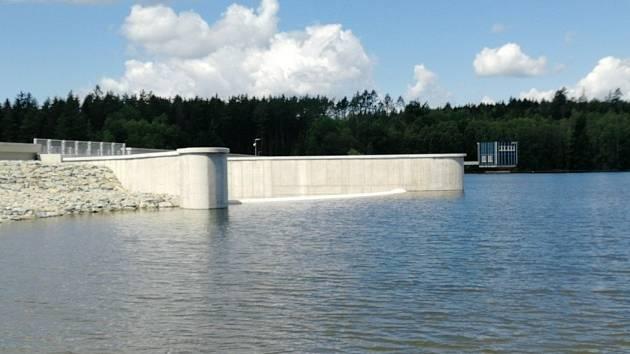 Opravená vodní nádrž Boskovice.