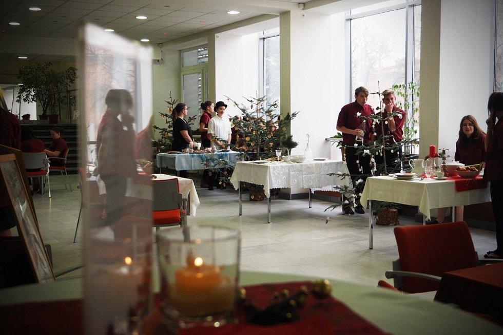 V blanenském Dělnickém domě je možné si prohlédnout různé vánoční tabule.