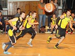 V oblastním přeboru II. třídy porazili basketbalisté Sokola Podolí u Brna BK Vyškov 91:79