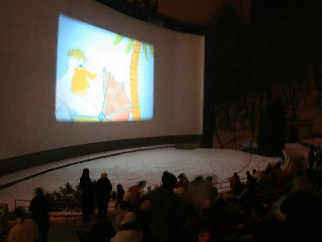 V boskovickém letním kině se na Silvestra tradičně promítá pásmo pohádek pro děti. Letos se ale akce přesouvá k zámeckému skleníku.