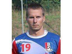 Záložník FK Blansko Jan Nečas.