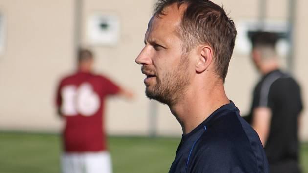 Hrající trenér fotbalistů FC Boskovice Jan Havlíček.