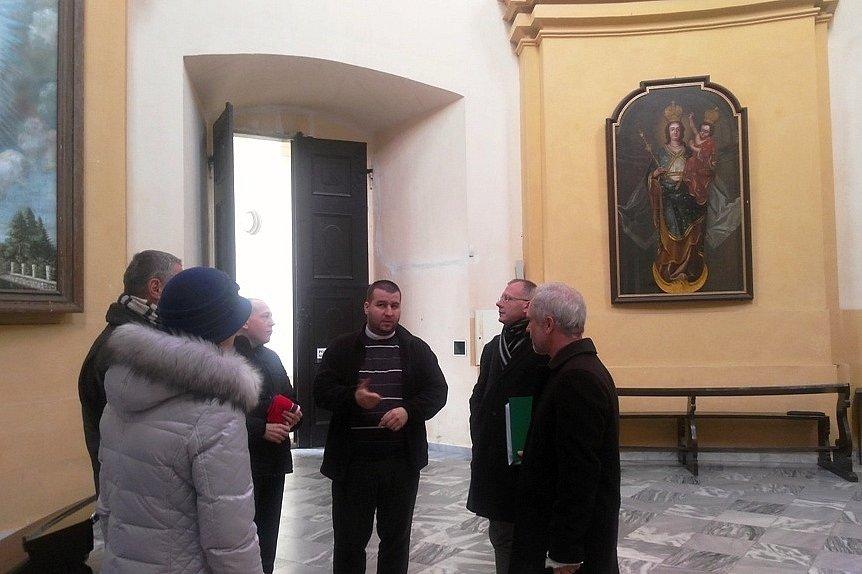 Návštěva křtinského kostela.