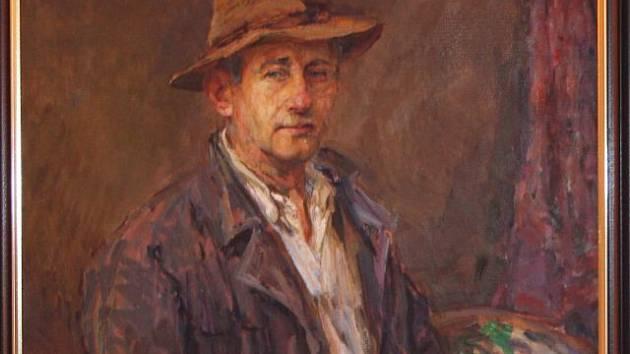 František Řehořek - autoportrét.