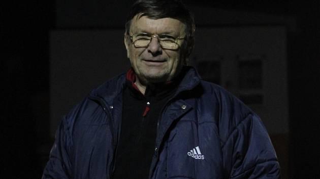 Trenér fotbalistů Ráječka Jiří Škaroupka.