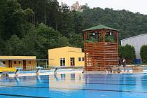 Opravené koupaliště v Boskovicích čeká na první návštěvníky.