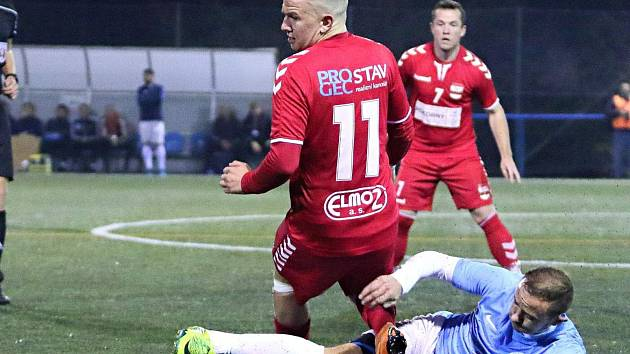 V posledním podzimním utkání krajského přeboru remizovaly Boskovice (modrá) se Startem Brno 2:2.