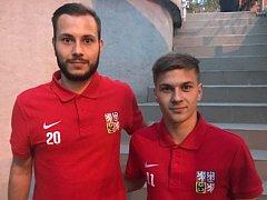 Bratři Michal a Dominik Šmerdovi z Blanenska.