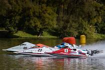 O prvním říjnovém víkendu se konalo Mistrovství světa v závodech motorových člunů na rybníku Olšovec.