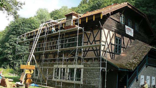 Chata Švýcárna v Adamově.