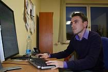 Cyklista Martin Mareš odpovídal v redakci Blanenského deníku v on-line rozhovoru.