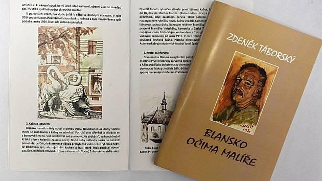 Malíř Zdeněk Táborský zachytil proměny města Blanska. Jeho díla přestaví nová brožura.