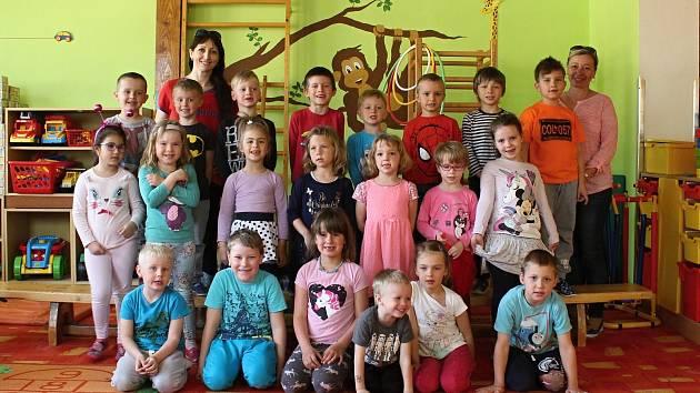 Děti ze třídy Kopretiny z MŠ Rájec-Jestřebí.