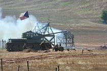 Rekonstrukce části bitvy o Kyjev.