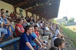 Tribuna na stadionu v Blansku.