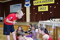1. ročník taneční soutěže v aerobiku Zlatá hvězda.