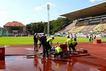 Hasiči z Horního Pořící vybojovali na stadionu pražské Dukly zlato.