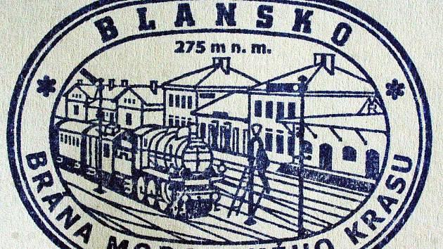 Pamětní razítko dostanou turisté v Blansku na nádraží.
