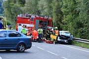 Nehoda dvou aut u Letovic na Blanensku si vyžádala tři zraněné.