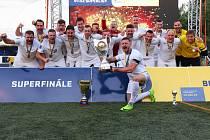 Brno zvítězilo v obou kategoriích Superligy malého fotbalu.