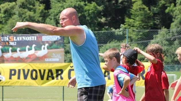 Trenér a koordinátor FC Boskovice Jiří Vorlický.
