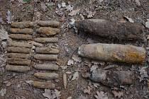Nález devatenácti granátů z období druhé světové války u Boskovic.