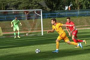 Blanenští fotbalisté prohráli na hřišti pražské Dukly 1:2.