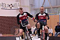 Na turnaji v kolové v německém Grosskoschenu si spolu po delší době zahráli otec (vpravo) a syn Jirkové Hrdličkovi.