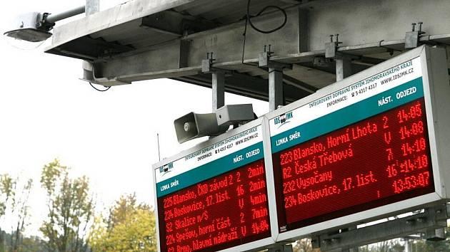 Autobusové nádraží v Blansku - ilustrační foto.