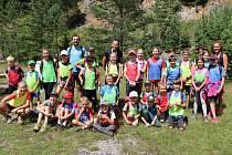 Z letního tábora mladých blanenských atletů.