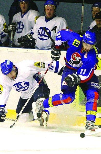91c8ac80857 Hokejisté Blanska opět prohráli o jednu branku. Podruhé za sebou. Tentokrát  na ledě Nového ...