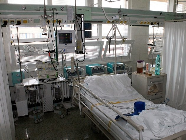 Iktové centrum v blanenské nemocnici.