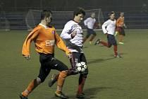 Boskovičtí fotbalisté v zápase s Kunštátem, který prohráli 0:5.