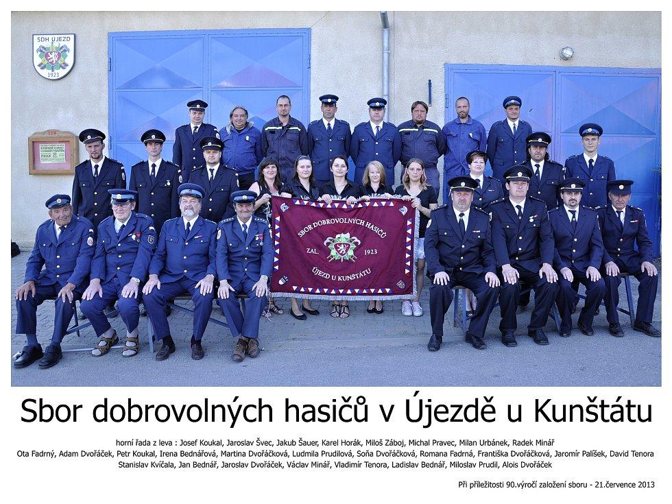 Členové SDH Újezd u Kunštátu.