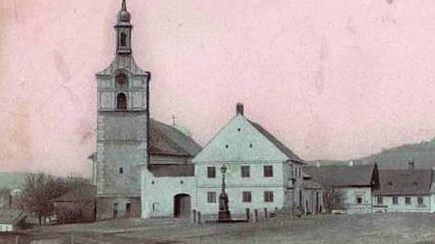 Olešnický pivovar na dobové fotografii.