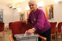 Druhé kolo prezidentských voleb v Senior centru v Blansku.