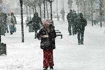Pořádná sněhová peřina ve středu napadla i přímo v Blansku.