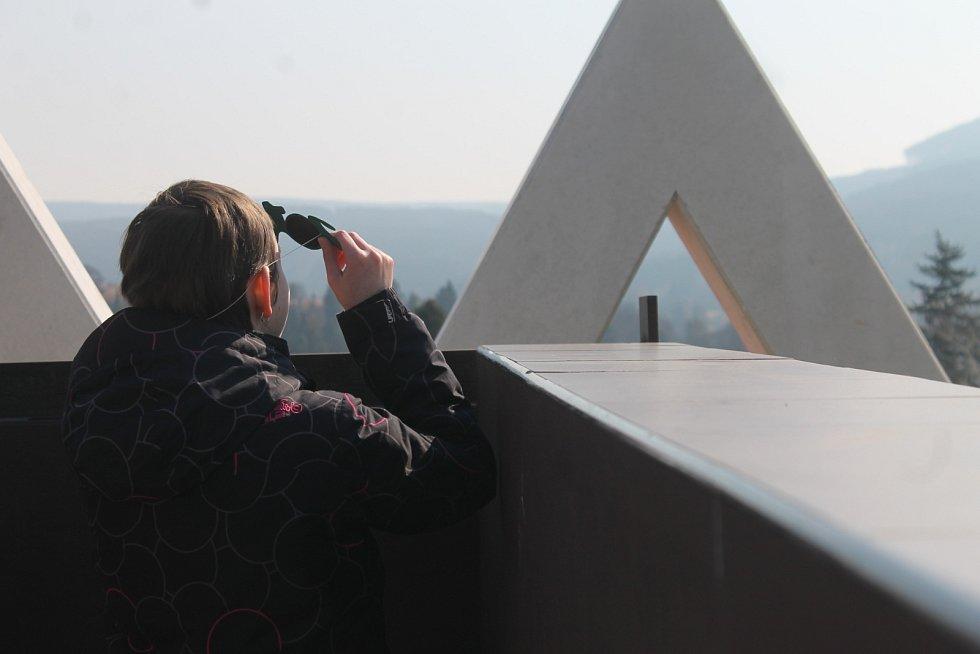 Zatmění slunce sledovali lidé na pozorovatelně v Boskovicích.