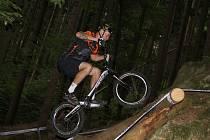 V Blansku na Palavě se jel závod mistrovství republiky v biketrialu.