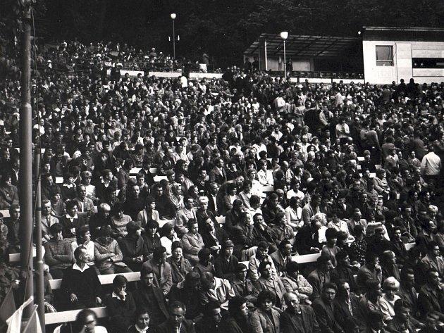 Na Filmový festival pracujících do Boskovic jezdilo na třicet tisíc diváků z širokého okolí. Kapacita letního kina často nestačila. Celé město bylo vyzdobené.
