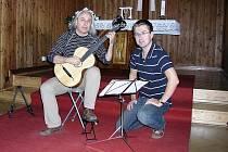 Blanenský hudebník Karel Fleischlinger (vlevo).